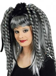 Extensões de cabelo piscante cinzentos mulher