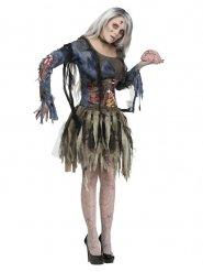 Disfarce de zombie mulher Halloween