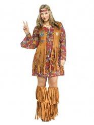 Disfarce hippie mulher tamanho grande