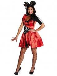 Disfarce rato zombie Halloween mulher