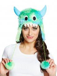 Chapéu pele sintética monstro verde e azul