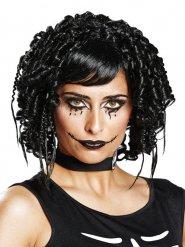 Peruca gótica preta mulher