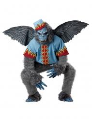 Disfarce macaco voador cinzento homem
