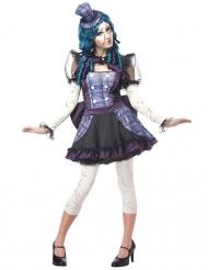 Disfarce boneca partida mulher Halloween