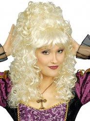 Peruca barroca encaracolada loira mulher