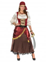 Disfarce pirata de luxo - mulher