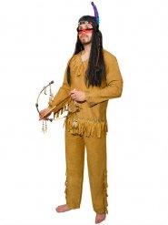 Disfarce índio com franjas para homem