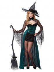Disfarce bruxa sedutora mulher Halloween