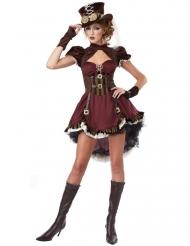 Disfarce steampunk mulher bordeaux