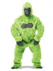 Disfarce gorila verde homem