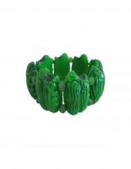 Bracelete cérebro de zombie verde adulto
