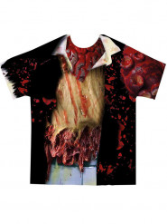 T-shirt zombie adulto