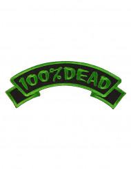 Adesivo gótico 100% Dead verde e preto