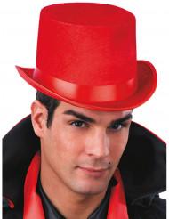 Chapéu alto vermelho