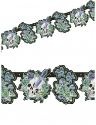 Grinalda caveira gótica 180 x 15 cm