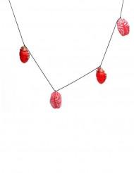 Grinalda coração e miolos vermelhos Halloween