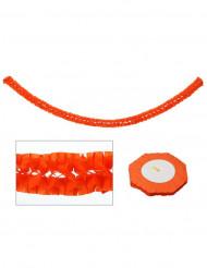 Grinalda de papel - decoração cor de laranja