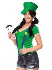 Kit disfarce canalizador verde vídeojogo mulher