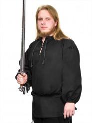 Blusa medieval preta para homem