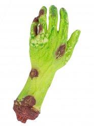 Mão de zombie verde sangrenta Halloween
