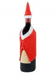 Chapéu e casaco decoração garrafa de Natal