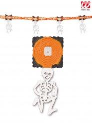 Grinalda esqueleto cor de laranja