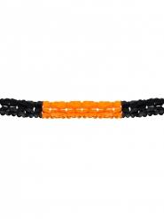 Grinalda cor de laranja e preta Halloween