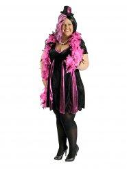Disfarce cabaret preto e cor-de-rosa mulher