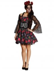 Disfarce esqueleto Dia de los muertos Halloween