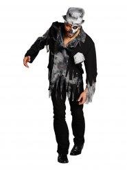 Disfarce de noivo zombie cinzento-preto homem