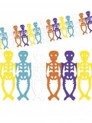 Grinalda esqueletos coloridos Dia de los muertos Halloween
