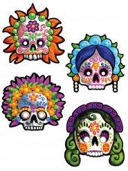 4 Máscaras de decoração Dia de los muertos