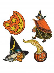 Kit de decoração bruxa Halloween