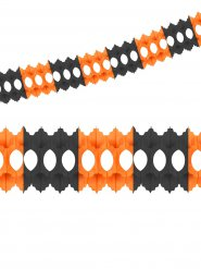 Grinalda de papel cor de laranja e preto