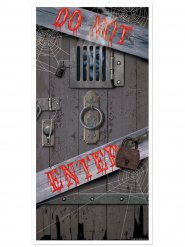 Decoração para porta Do Not Enter Halloween