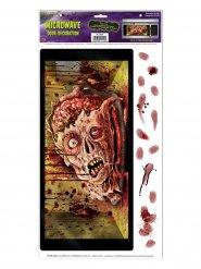 Adesivo para microondas cabeça de zombie Halloween