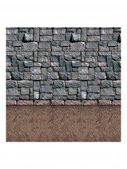 Decoração de parede muro de pedra