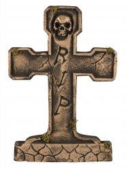 Lápide RIP esqueleto bronze