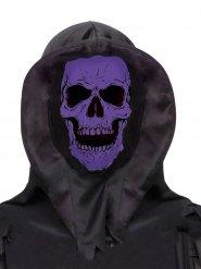 Máscara integral caveira violeta e preta adulto