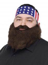 Bandana USA com barba para homem