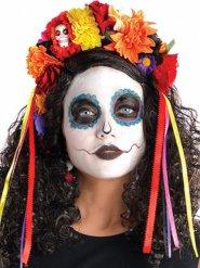 Coroa de flores coloridas Dia de los muertos
