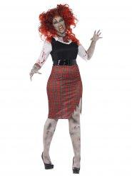 Disfarce zombie estudante mulher