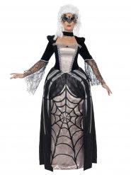 Disfarce baronesa gótica preto mulher
