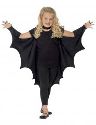 Capa preta vampiro morcego criança halloween