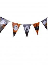 Grinalda bandeiras cemitério Halloween