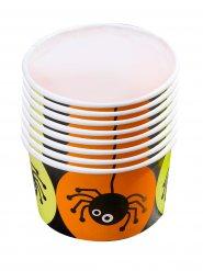 8 Tigelas para rebuçados aranha Halloween