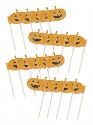 20 decorações abóbora para cupcakes 7 cm