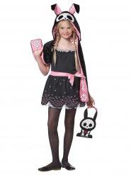 Disfarce coelho esqueleto Halloween criança