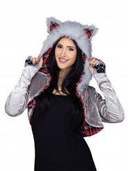 Disfarce casaco de lobo mulher