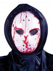 Máscara de hóquei ensanguentada com bomba adulto